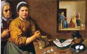 Christus im Haus von Martha und Maria