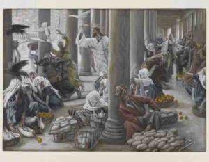 actes prophétiques, Lazare, Temple