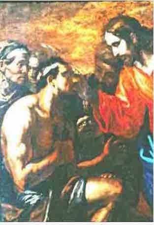 Jésus guérissant l'aveugle né