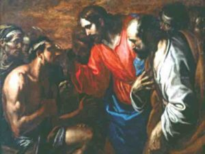 Jésus guérissant l'aveugle né, vu par un peintre
